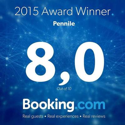 L'Hotel Pennile di Ascoli Piceno è lieto di presentare il Guest Review Award 2015 assegnatogli da Booking.com, in base alle recensioni degli ospiti