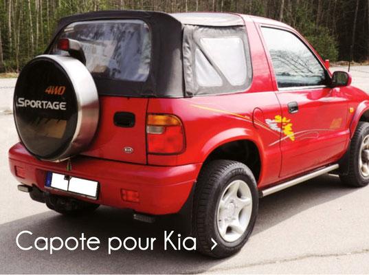 """bâche de remplacement pour Kia sportage cabriolet """"cutback"""" exclusivement sur 4x4 cabriolet.com"""