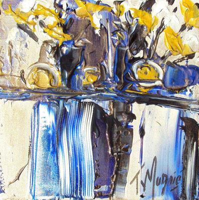Ikebana Blue 10, 20 x 20, vendue, collection particulière
