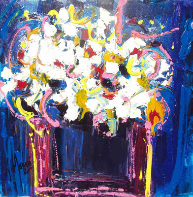 Bouquet de printemps, 40 x 40.