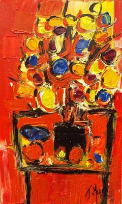 Fleurs et fruits, 50 x 30