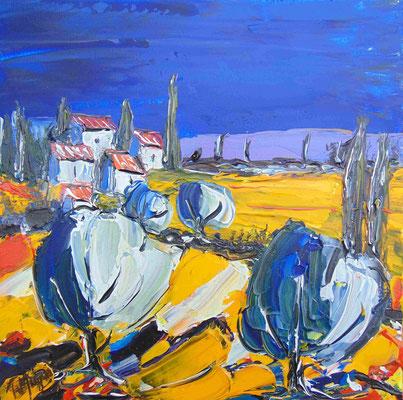 Provence, 40 x 40, acrylique sur toile.