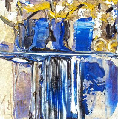 Ikebana Blue, vendue, collection particulière