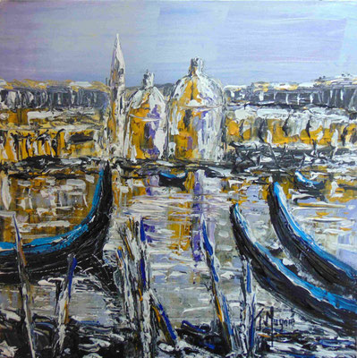 Vision Italienne, 50 x 50, acrylique sur toile.