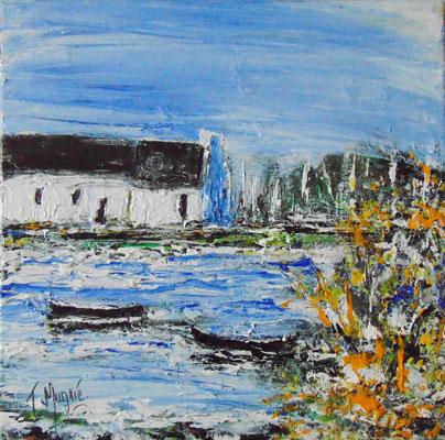 Bretagne, 60 x 60, acrylique sur toile