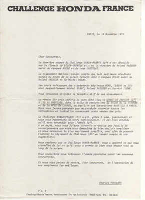 Lettre (doc. J.Faucon)