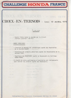 Timing 1ère page (doc. J.Faucon)