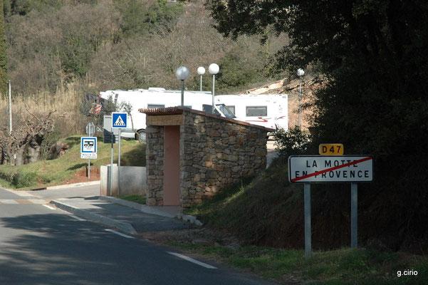 l'Aire de service de La Motte en Provence