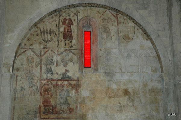 Mane (vitreaux et fresque de l'église du prieuré)