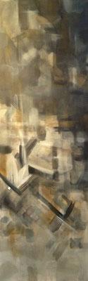 SIENA Acrylfarbe auf Leinwand 40 x 120 cm XL