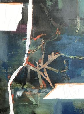 Stationen 3 Acryl und Tusche auf Leinwand 40 x 30 cm