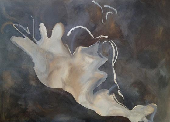 SIENA Acrylfarbe auf Leinwand 120 x 100 cm XL