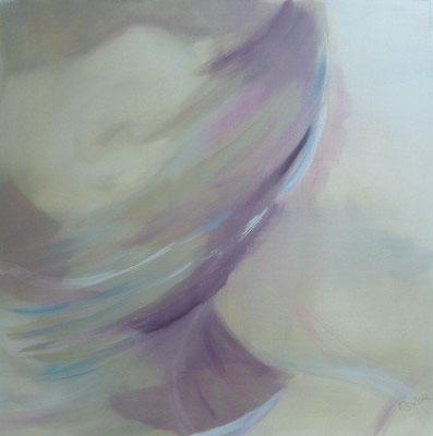 Lebenslinien 4 Acrylfarbe auf Leinwand  80 x 80 cm