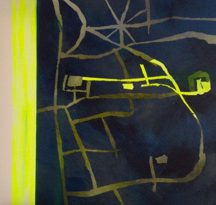LONDON Acrylfarbe auf Leinwand 50 x 50 cm XL