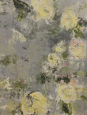 Acrylfarbe und Ölpastellkreide auf Leinwand 80 x 100 cm XL