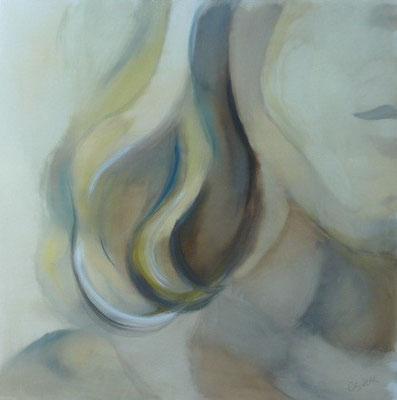 Lebenslinien 13 Acrylfarbe auf Leinwand  100 x 100 cm