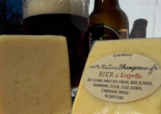 100% Natur-Schampoo-Seife Bier & Eigelb