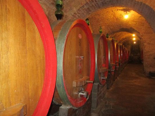Wijnkelder in Montepulciano