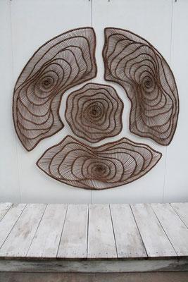 """""""Mandala """"création pour l'orangerie de Ludwigsburg 2013 (2 m de diamètre)"""