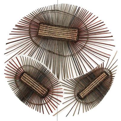 mandala métissage ( les couleurs sont celle naturelles des différentes variétés d'osier)