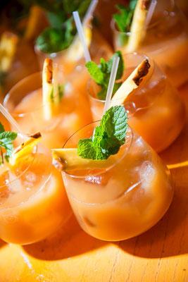 cocktail cognac/ananas (crédit: C.K.Mariot)