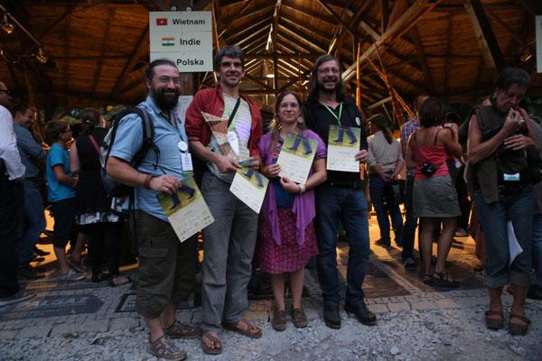 The Da nicht fur team 3ème Concours International de Vannerie, Nowy Tomysl Pologne 2015