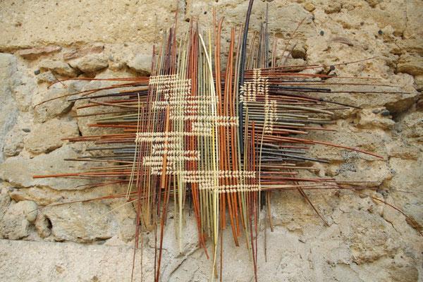 métissage ( les couleurs sont celle naturelles des différentes variétés d'osier)