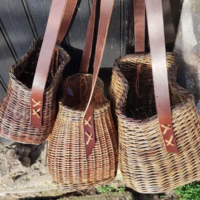 Paniers bandoulières , sacs à main, paniers de cueillette
