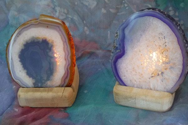 zwei Feen Lichter Bild 2 - mit Teelicht an