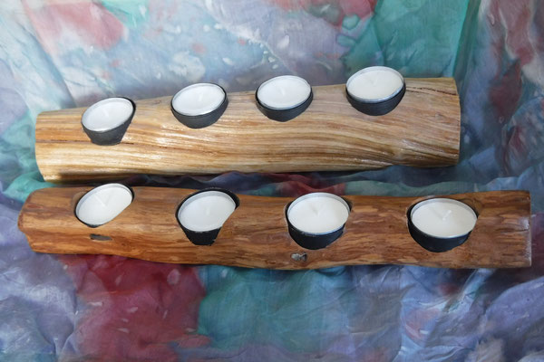 Teelichter aus Lianenholz Bild 2