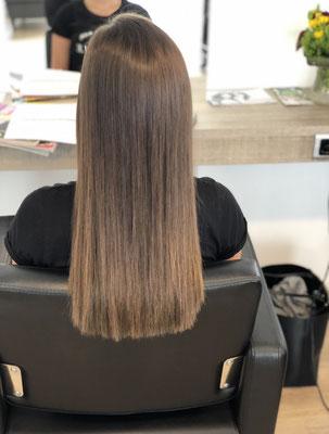 Nach der Haarverdichtung