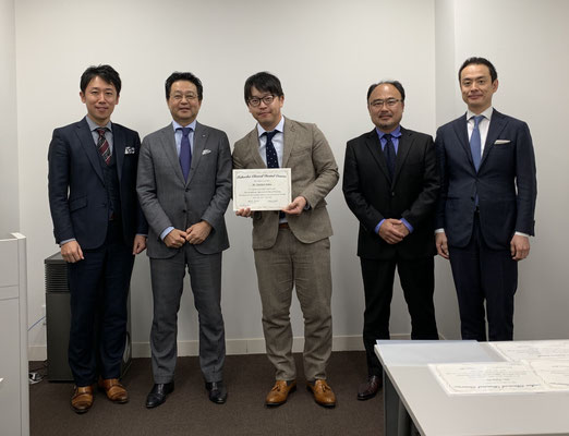 FCDC年間コース終了時の一枚。月1の福岡での勉強会で日本のトップの先生方に歯科治療の真髄を教えて頂きました。