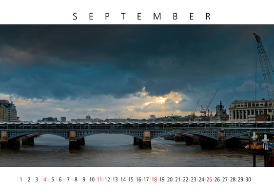 Calendar London 2016, September, Blackfriars Bridge