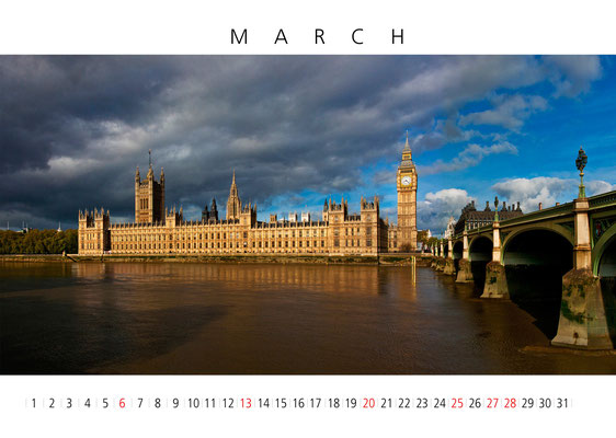 Calendar London 2016, March, The Houses of Parliaments
