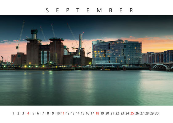 Battersea Power Station, London Calendar 2017, September