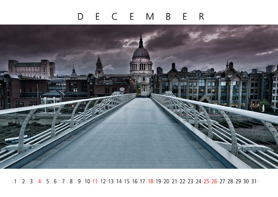 Calendar London 2016, December, St Paul's Cathedral