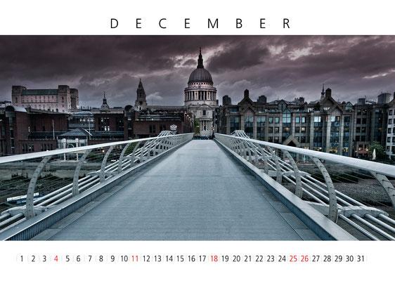 Calendar London 2016, December, St Paul's Cathedral