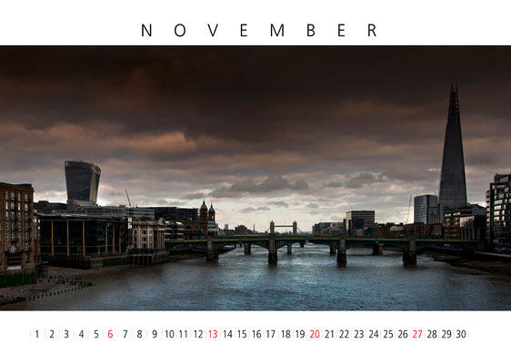 Calendar London 2016, November, The Shard