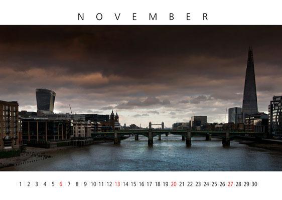 Calendar London 2016, November, The Shard
