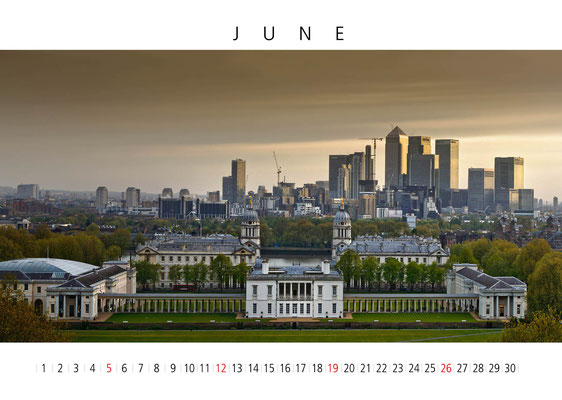 Calendar London 2016, June, Greenwich