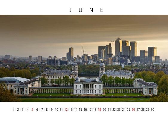 Calendar London 2016, June, Greenwich
