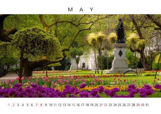 London Calendar, May, The White Hall Garden