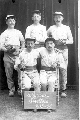 1915-1916 Le Record Nivellois - Balle pelote