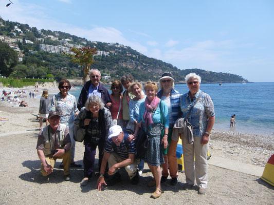 Après les agapes, bord de mer à Roquebrune
