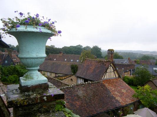 Vue sur le village médiéval de Gerberoy