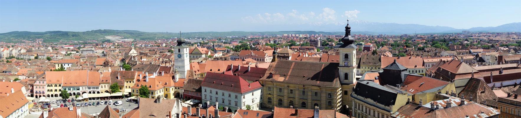 Blick über Herrmannstadt/ Sibiu
