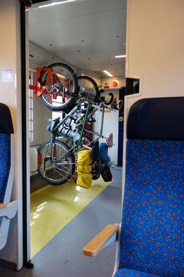 Die letzten km nach Budapest per Zug