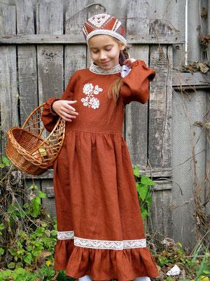 платье в русском стиле, folk dress for girls/ rustic dresses