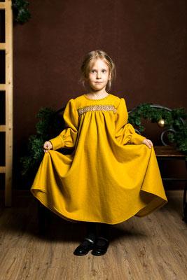 шерстяное платье для девочки, платье в русском стиле