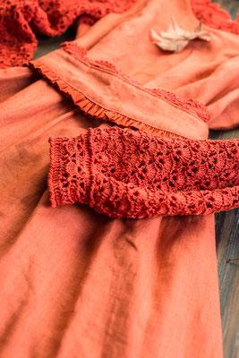 платье на осень, яркое платье